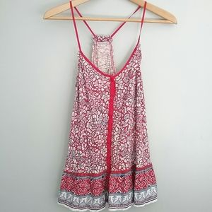 American Eagle//Red Button Down Racer Back Tank